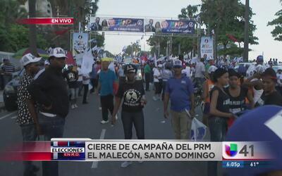 Escasa la participación en el cierre de campaña del PRM en Santo Domingo