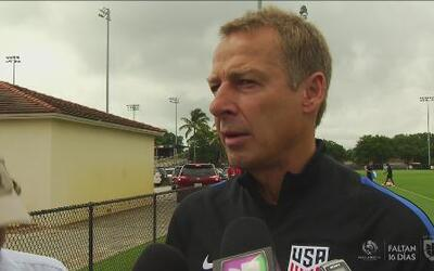 """Klinsmann: """"Necesitamos jugadores que muestren energía y agresividad en..."""