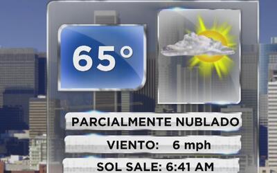 Cielo parcialmente nublado, frío y mucho viento para este jueves en Los...