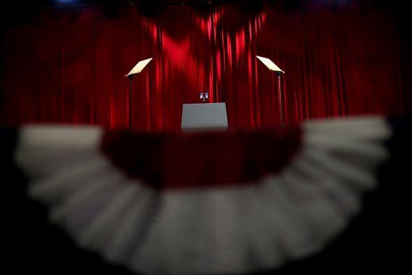 Aquí es donde pronunciará un discurso triunfal o de aceptación de la der...