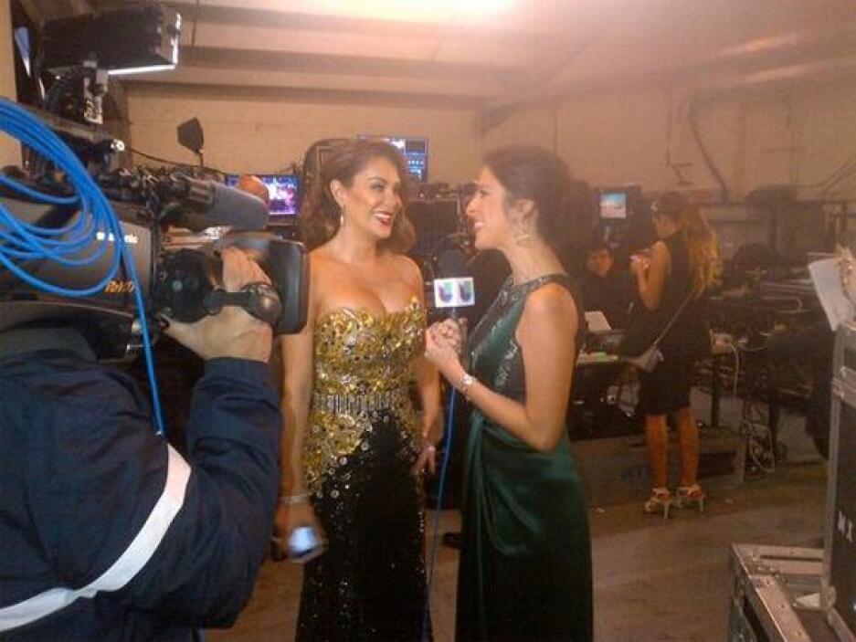 Maity se encontró a un Bombón en la fiesta de los Latin Grammy.