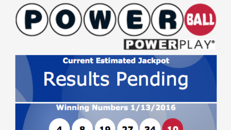 Número ganador de Powerball