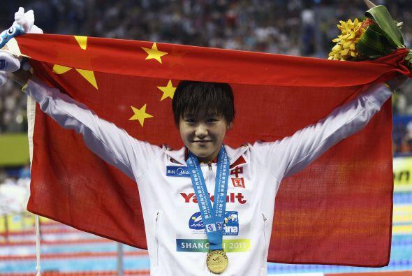 La nadadora local Ye Shiwen hizo que el himno chino sonara por vez prime...