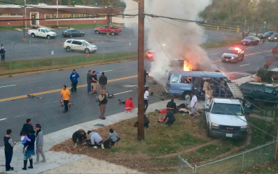 Accidente vehicular en Hyattsville, Maryland