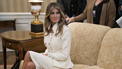 Melania Trump en la Casa Blanca, el pasado 15 de febrero en la reuni&oac...