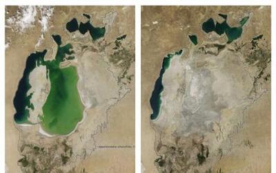 El Mar Aral, conocido por haber sido el cuarto lago más grande del mundo...