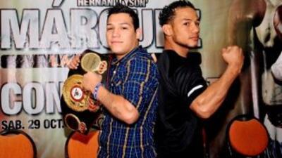 """Hernán """"Tyson"""" Márquez y Luis """"Nica"""" Concepción anunciaron cu combate de..."""