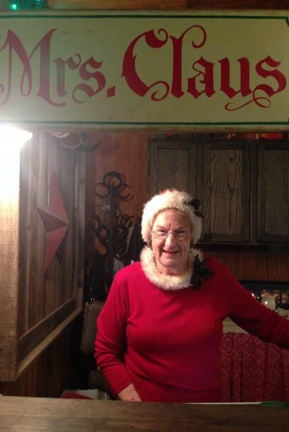 Ahí conocimos a Mrs. Claus.