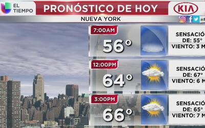 Un día mucho más cálido será este viernes en Nueva York