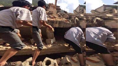 Imágenes del sismo en China y las labores de rescate