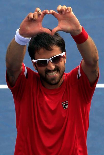 El serbio Janko Tipsarevic[20] venció al español Juan Carl...