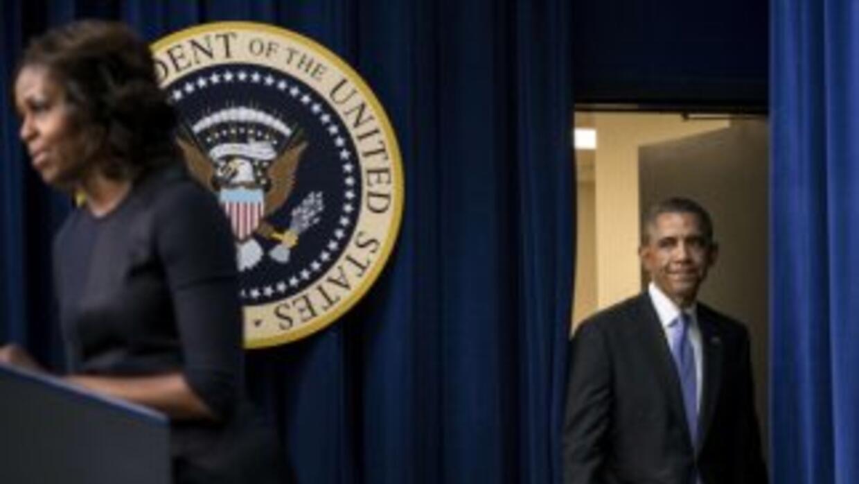 Michelle y Barack Obama en el evento sobre la educación.