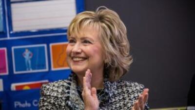 La ex secretaria de Estado Hillary Clinton en el lanzamiento de Pequeños...