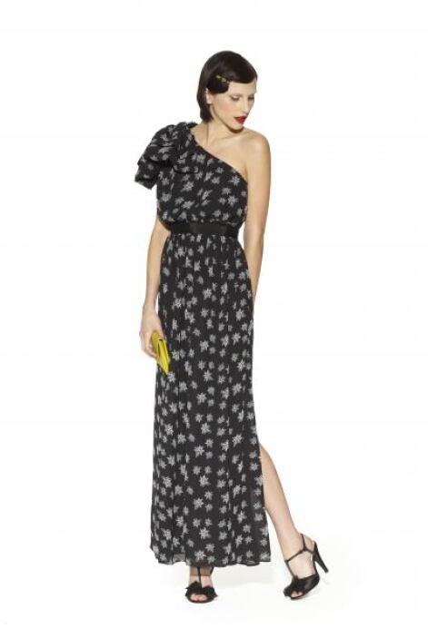 19. Vestido asimétrico negro con estampado de estrellas $89.99Brazalete...