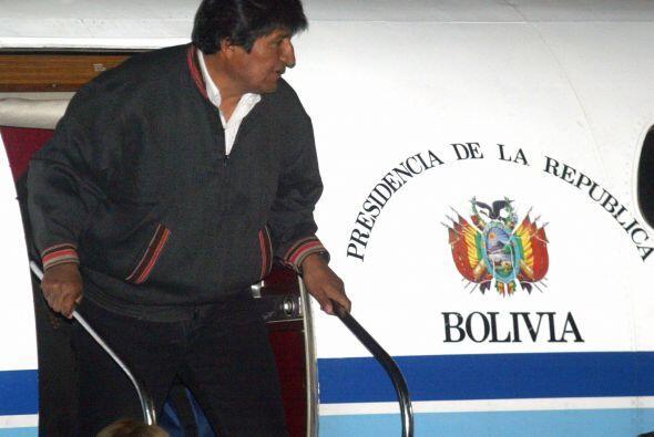 En julio el avión oficial del presidente de Bolivia, Evo Morales, estuvo...
