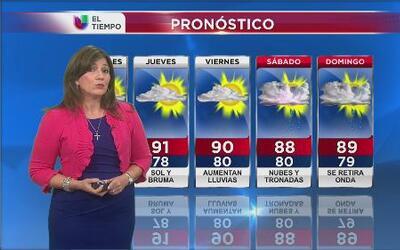 Se espera tiempo seco para Puerto Rico hasta el jueves