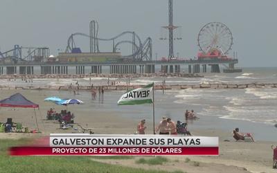Concluye expansión de playa en Galveston