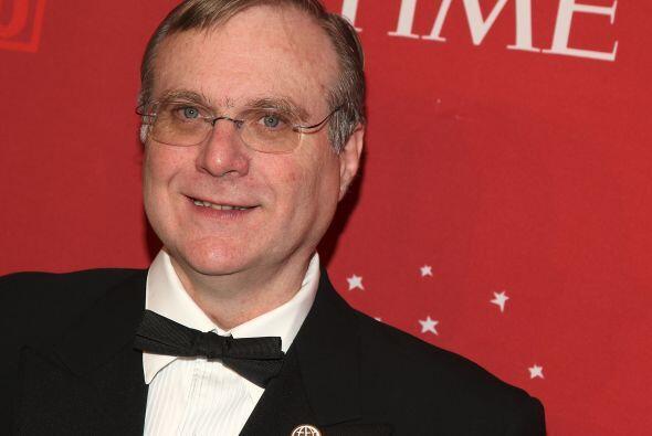 En el séptimo lugar está otro de los fundadores de Microsoft, Paul Allen...