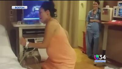 ¡Madre bailó en pleno parto!