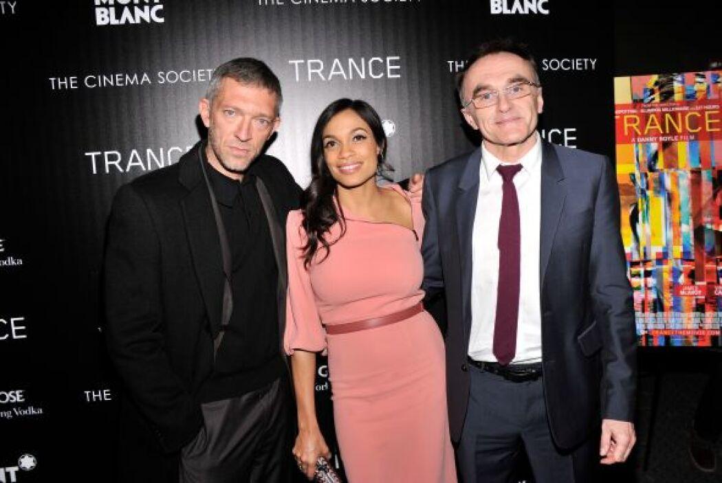 Una pareja dispareja, la de Rosario Dawson y el director Danny Boyle (de...