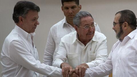 En esta foto de archivo del 23 de septiembre de 2015, el presidente cuba...