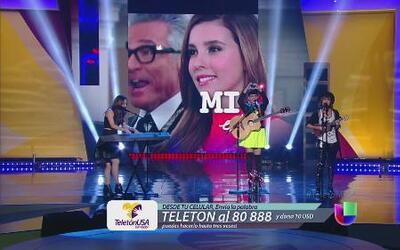 Kaay y axel interpretan Mi Corazón es tuyo en Teletón USA