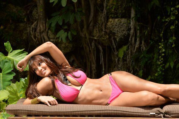 Con ese bikini rosado, nos hace soñar despiertos.
