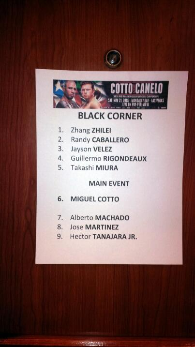Pesaje Cotto Canelo