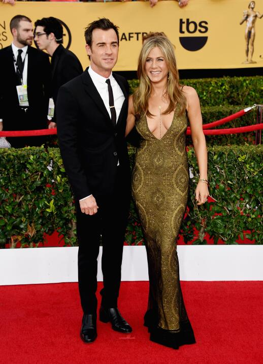 Jennifer Aniston y Justin en los SAG Awards.