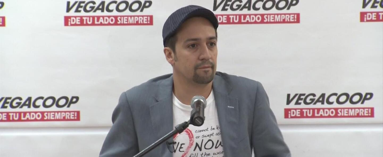 Lin-Manuel Miranda aprueba el voto presidencial para Puerto Rico