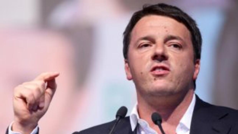 El primer ministro de Italia, Matteo Renzi.