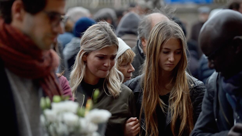 Homenajes a las víctimas de los ataques de París.