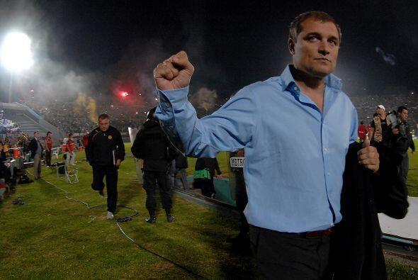 Diego Aguirre, el técnico de Peñarol, se retiró optimista del Centenario...