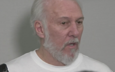 Coach Popovich addresses the media about Kawhi injury