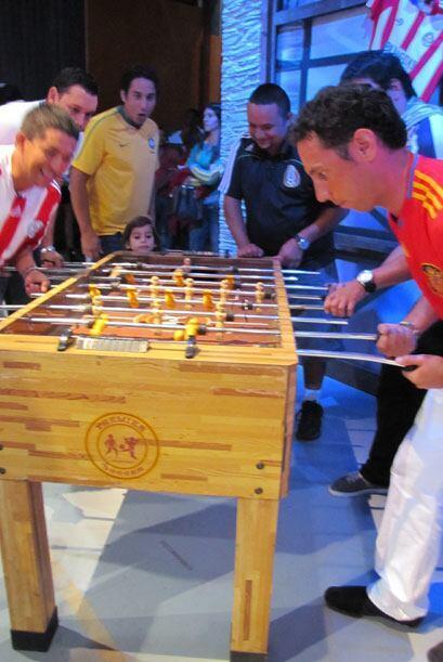 Marcos Da Silva, fanático de Brasil, llevó a su peque&ntil...