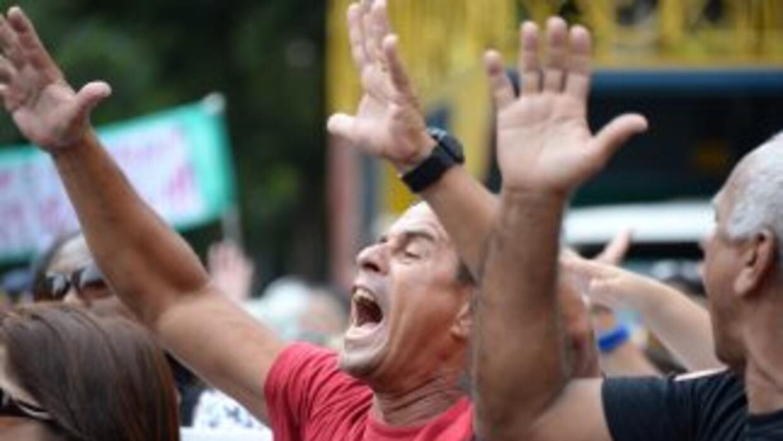 Imagen de una protesta contra la corrupción en Brasil.