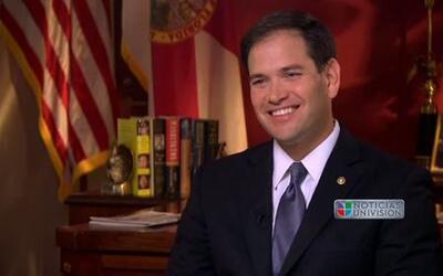 Jorge Ramos entrevistó al Senador Marco Rubio (R) Florida (entrevista co...