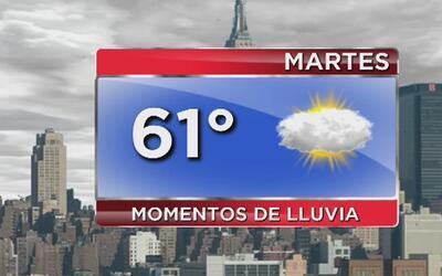 Cielo nublado y temperaturas frescas para este martes en Nueva York