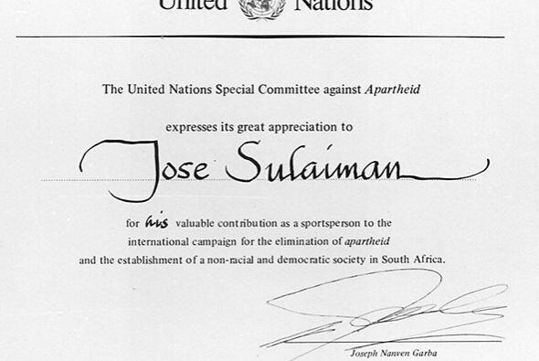 José Sulaimán fue reconocido por la ONU.