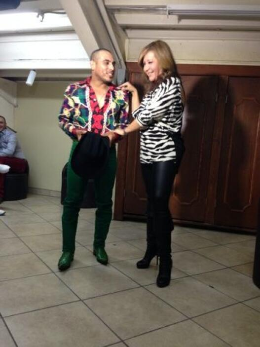 En exclusiva, la reportera de El Gordo y la Flaca no se perdió un solo d...