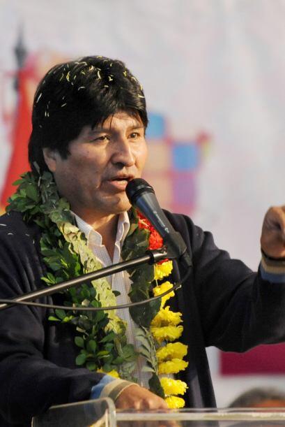 El presidente de Bolivia, Evo Morales, tiene un empate con México con el...