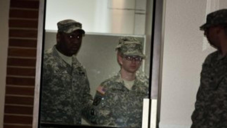 El soldado estadounidense Bradley Manning, durante la audiencia prelimin...