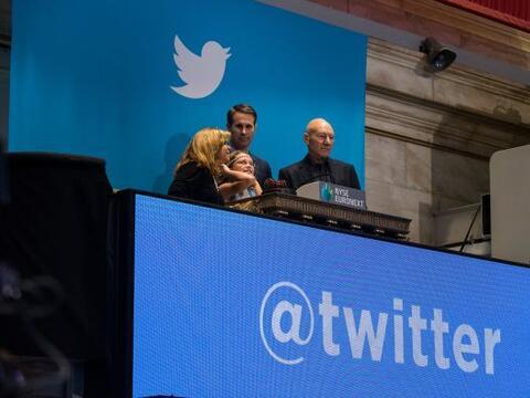 Las acciones de la empresa de mensajes cortos Twitter se valuaron en m&a...