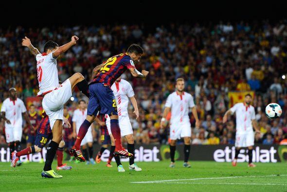 El Barcelona rompió el cero hasta el minuto 36 con un remate de cabeza d...