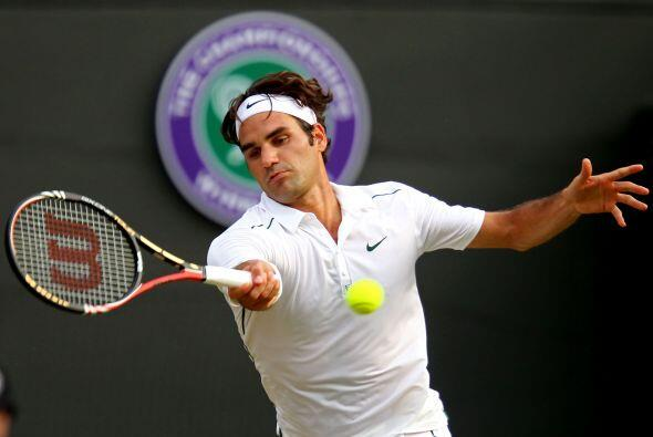 A pesar de tener un mal comienzo en el partido, Federer, derrotó...