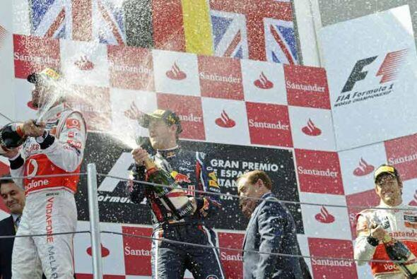 El podio del Gran Premio de España lo completó el ingl&eac...