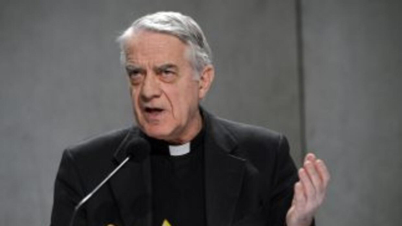 El padre Federico Lombardi, Portavoz del Vaticano.