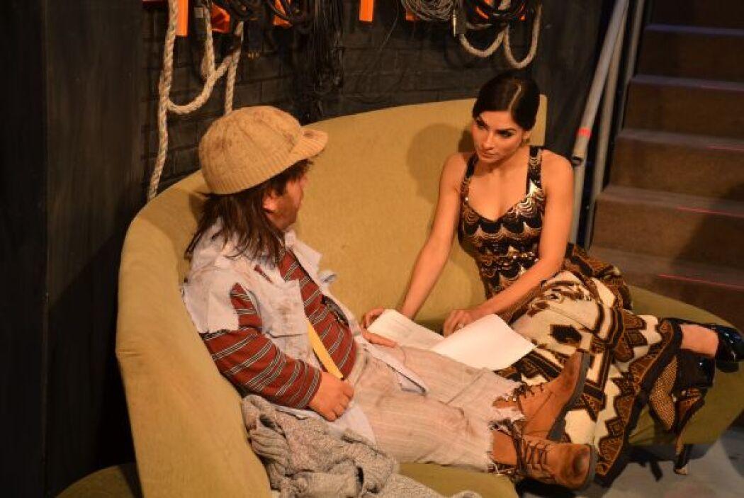 Alejandra no para de ensayar, ahora lo hace con uno de los amigos del Ch...