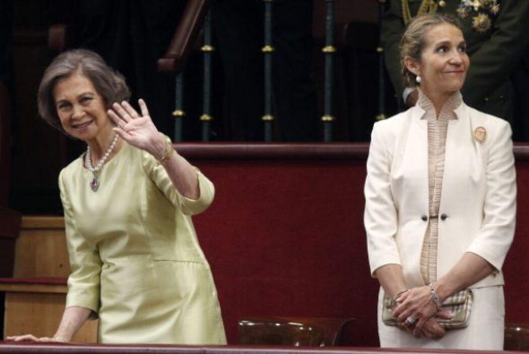 La reina Sofía se notaba feliz y despreocupada.