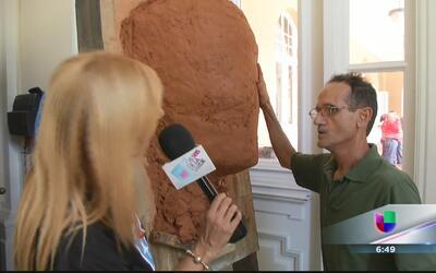 Escultor crea un busto de Mónica Puig en sede del Copur